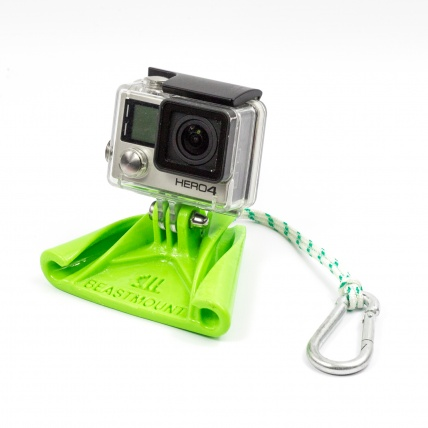 Beast Mount Wakeboard Cable Mount front with gopro