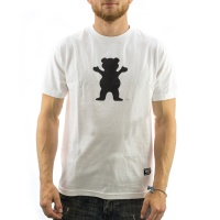 Grizzly Griptape - OG Bear Logo Tee in White