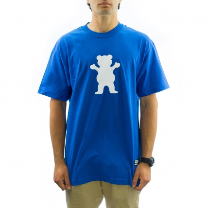 Grizzly OG Bear Logo Tee in Royal front view