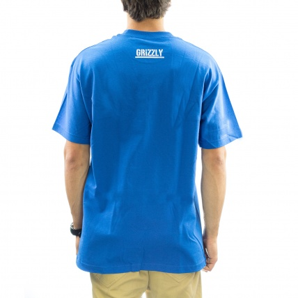 Grizzly OG Bear Logo Tee in Royal rear view