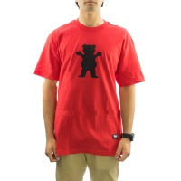 Grizzly Griptape - OG Bear Logo Tee in Red