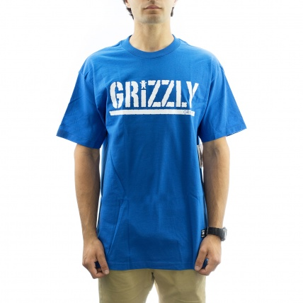 Grizzly Griptape OG Stamp Tee in Royal Blue Front