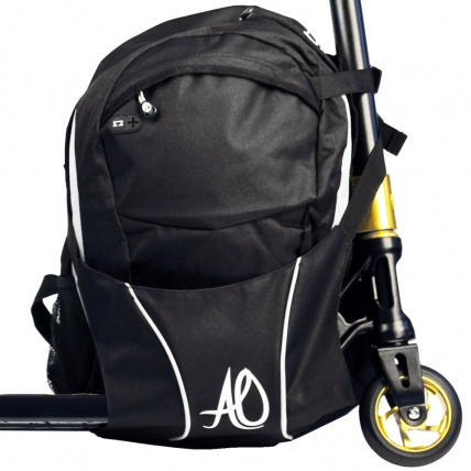 AO Scooters Backpack in Black and Grey