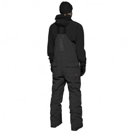 Thirty Two Black Basement Bib Snowboard Pant Rear