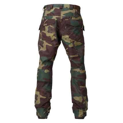 Analog Field Snowboard Pant in Surplus camo rear view