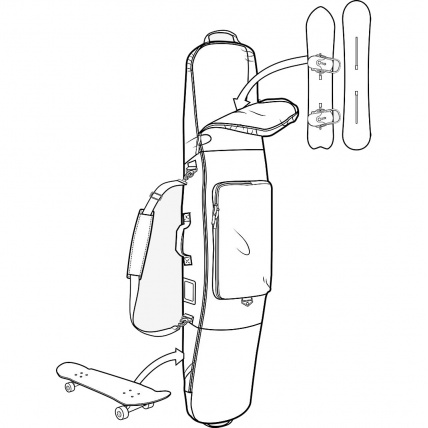 Burton Gig Snowboard Bag in Jungle Diagram