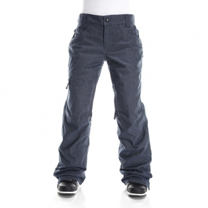 686 Authentic Patron Blue Denim Womens Snow Pant