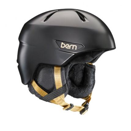 Bern Bristow Womens Helmet in Sating Black