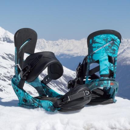 Burton Mission Reflex 2017 Snowboard Binding in Blueprint Spring Break snowboard test close up