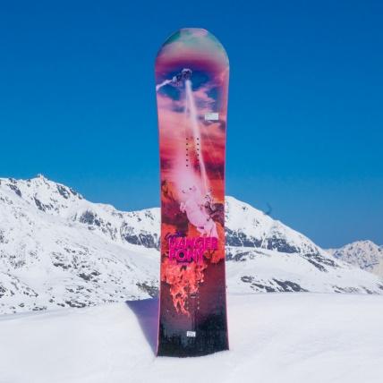 Capita Danger Pony Jess Kimura Pro Model Snowboard Spring Break top sheet graphic