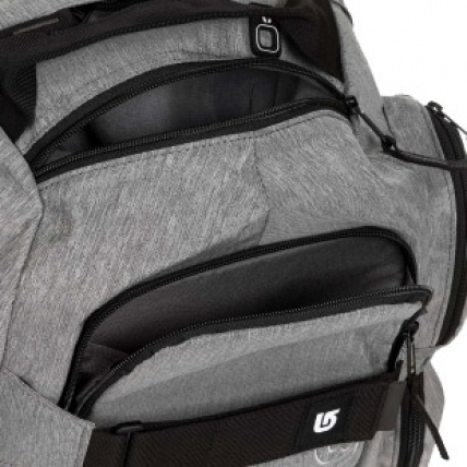 Burton Distortion Pack in Heather Grey compartments