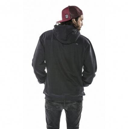 Mystic Crude Caviar Sherpa Hooded Sweatshirt rear view