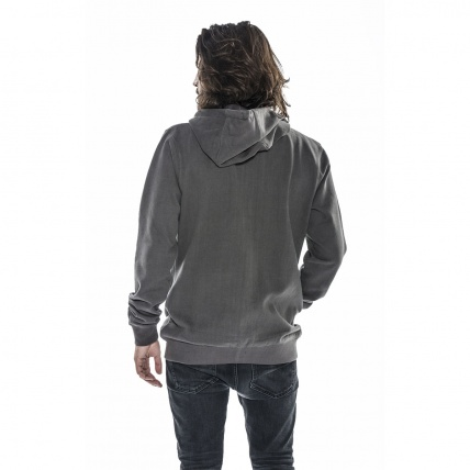 Mystic Dispertion Dark Grey Hooded Sweatshirt rear view