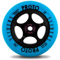 Proto - Sliders 110mm Neon Blue Black Scooter Wheel