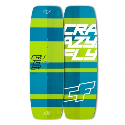 Crazy Fly Cruiser Light Wind Kiteboard 2017 top and bottom
