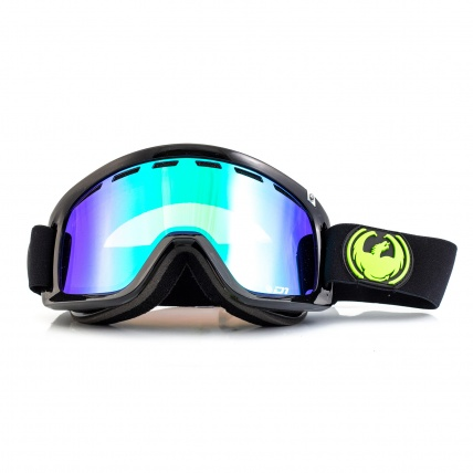 Dragon D1 Jet Green Ion Snowboard Goggles front