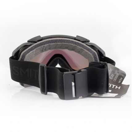 Smith I/O Snowboard Goggles Black with Chromapop back view