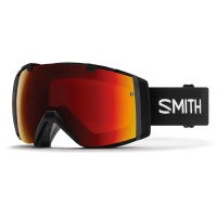 Smith - I/O Snowboard Goggles Black Chromapop Sun Red