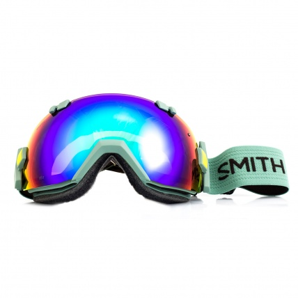 Smith I/OX Ranger Scout Green SolX Snowboard Goggle front view