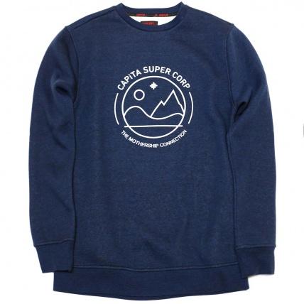 Capita Blue Crew Fleece Sweatshirt