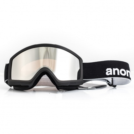 Anon Helix 2.0 Black Silver Amber Snowboard Goggle front view