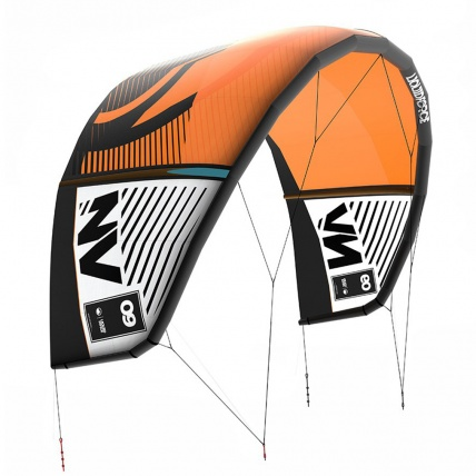Liquid Force NV Kitesurfing Kite on white in orange