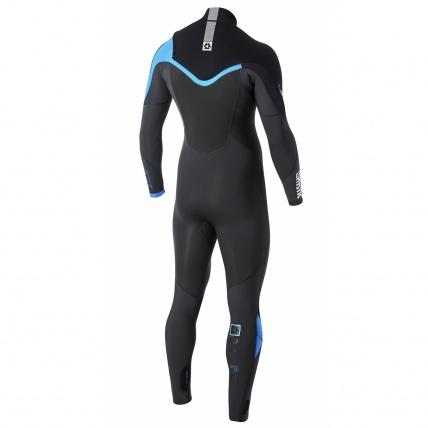 Mystic Majestic 5/3mm FZ Westsuit in Blue back view