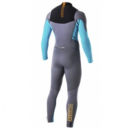 Mystic Star 5/4 Front Zip Wetsuit in Orange back