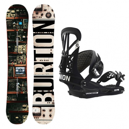 Burton Blunt Snowboard with Union Flite Pro Bindings in Black