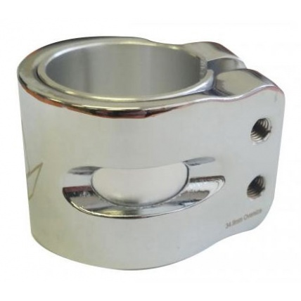 Blunt Chrome Double Clamp Side