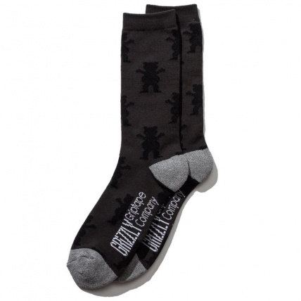 Grizzly Socks in Repeat Heather Charcoal