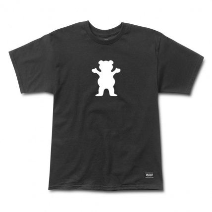 Grizzly Griptape Black OG Bear Logo T-shirt