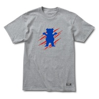 Grizzly Griptape - Heather Grey Wound OG Bear T-shirt