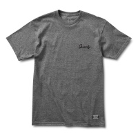 Grizzly Griptape - Heather Charcoal Cursive Embroidery T-shirt