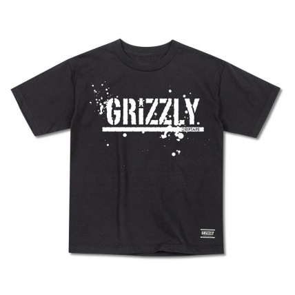 Grizzly Griptape Cubs Black Splatter  Junior T-shirt