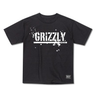 Grizzly Griptape - Cubs Black Splatter Stamp Junior T-shirt