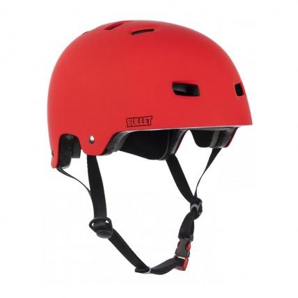 Bullet Deluxe Red skate helmet