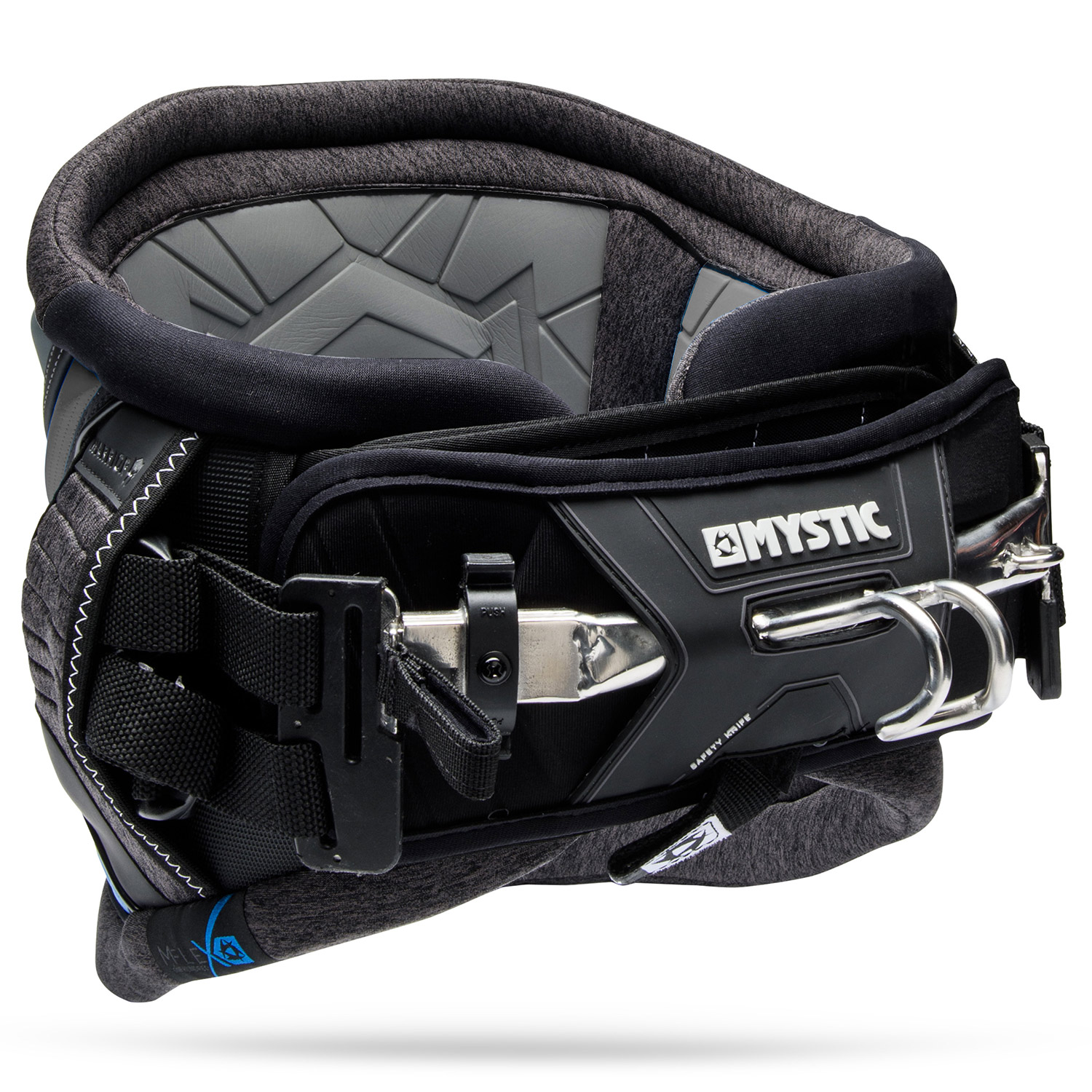 Mystic Warror V Black Waist Kitesurf Harness - ATBShop.co.uk