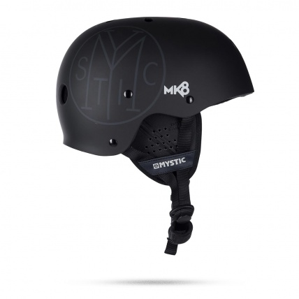 Mystic MK8 Black Grey Water Helmet Rear View