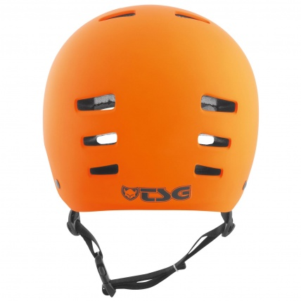 TSG Evo Helmet in Satin Orange Rear View