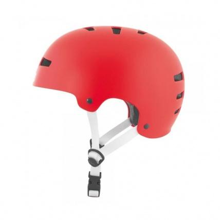 TSG Evo Helmet in Satin Fire Red Side