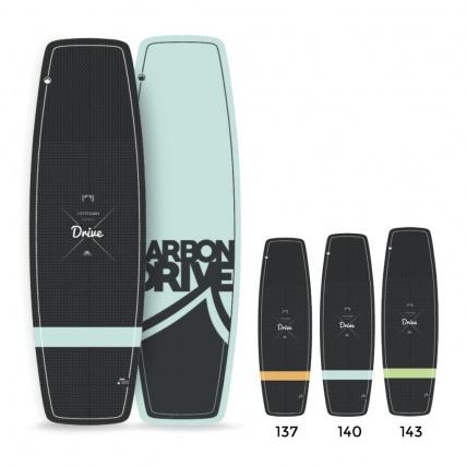 Liquid Force Carbon Drive Kitesurf Board sizes