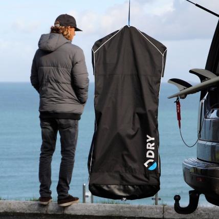 DRY Bag Elite Wetsuit Dry Bag in use