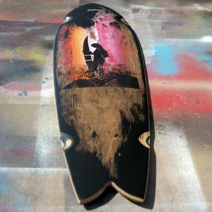 Roots Industries Fish Longboard Deck Custom Surf Girl