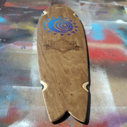 Roots Industries Fish Longboard Deck Custom Swirl