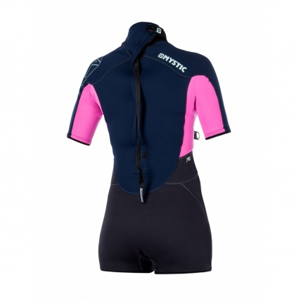 Mystic Star 3/2mm Womens Shorty Wetsuit in Navy back