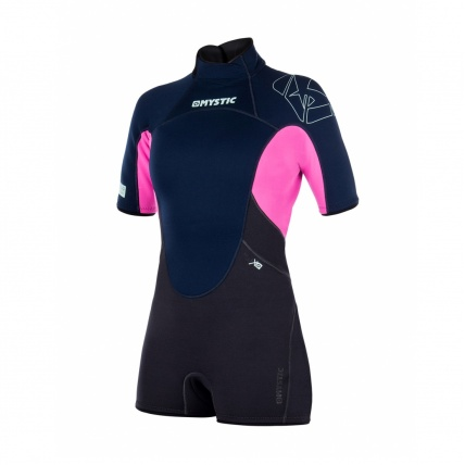 Mystic Star 3/2mm Womens Shorty Wetsuit in Navy front
