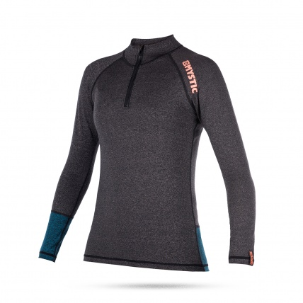 Mystic Diva Womens Long Sleeved Rash Vest in Teal