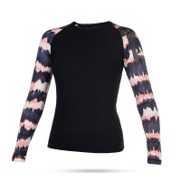 Mystic - Dazzled Womens Long Sleeve Rash Vest in Pink