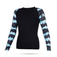 Mystic - Dazzled Womens Rash Vest Long Sleeve  in Mint